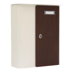Profirst Briefkasten Ziefen weiß-Holz